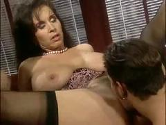 Brunette,  threesome,  pussylicking,