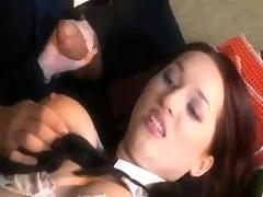 Naughty schoolgirl punished with a dick in her ass and mouth
