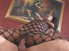 Nubian fishnet princess stuffed good
