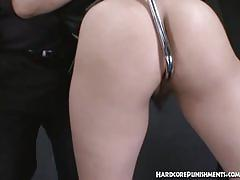 fetish, asian, hardcorepunishments.com, hairy pussy, japanese, bondage, hitachi, bush, natural tits, brunette, fingering