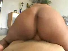 Busty chocolate beauty pounded pov style