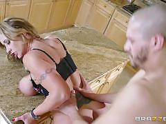 Busty cop eva notty surprises this dude with a hot fucking