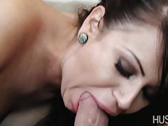 Babes devour this hard dick
