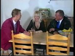 Mature busty blonde with 2 men (gr-2)
