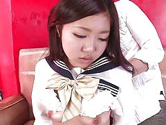 Cute schoolgirl kisses her lover