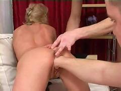 Russian slut fucked by two guys