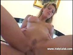 Blonde mature likes two dicks