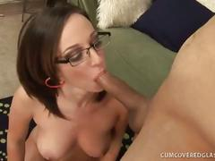 Jada stevens spermed on her sexy glasses