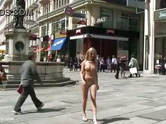 Spectacular public nudity with hot czech chicken