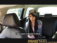 Faketaxi petite young model trys to fit huge cock in mouth