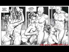 Erotic sexual bondage fetish comic