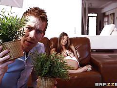Nasty gina seducing a guy