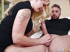Provocative milf undresses and sucks dick