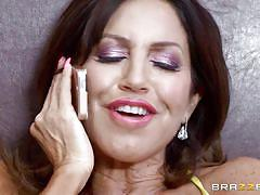 Horny latina milf moans like a slut