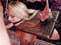 Bitches get restrained and fucked