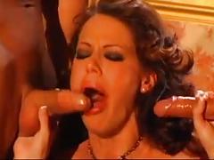 brunettes, tits, deep throats, double penetration