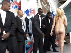 Interracial blowbang with katie summers