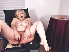 Dildo riding, cumming before bedtime, big natural tits, hairy wet pussy