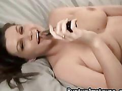 amateur, busty amateurs.com, big tits, brunette, teasing, homemade, dildo, masturbating, trimmed pussy, solo, orgasm