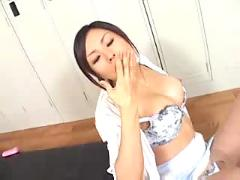 Asian oiled pussyfucking,  blowjob, cumshot,