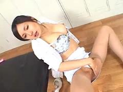 Asian oiled pussyfucking,  blowjob, cumshot,