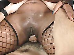 Big tit chocolate vixen takes on a young big cocked stud
