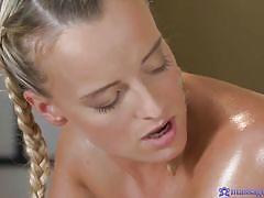 Hot massage turns into lesbian sex