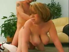 Chubby gf with big tits love sucking and riding cock-p3