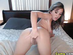 amateur, cums.com, webcam, busty, camgirl, brunette, maturbating, natural tits, solo, dildo, orgasm