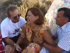 Mature redhead threesome housewife
