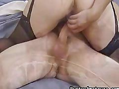 Busty amateur serena adam suck cock and rides on it on bed