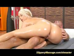 Chubby blonde loves slippery nuru massage sex