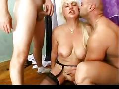 Noisy anal fmm with a blonde mature