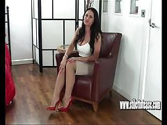 brunette, busty, babe, legs, tease, brunette babe, fetish, dirty talk, high heels, nylons, foot fetish, fishnet stockings