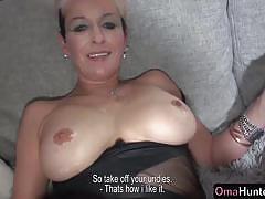 Lesbian fucks her mature partner