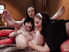 milf, threesome, bdsm, strapon, lesbians, babe, domination, vibrator, nuns, ass fisting, ass fucking, whipped ass, kink, mona wales, charlotte sartre, helena locke