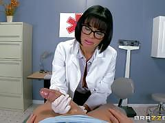 veronica avluv, xander corvus, blowjob, riding, big tits, feet, doggystyle, cumshot, facial, glasses, reverse cowgirl, stockings, doctor, footjob, uniform, suspenders, sucking