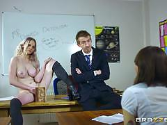 carly rae, danny d, big dick, blowjob, doggystyle, cumshot, facial, blonde, teacher, student, desk, socks, monster cock, hairy, classroom, schoolgirl, uniform, spooning, sucking