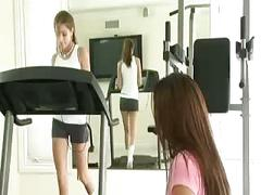 Lesbian gym seduction