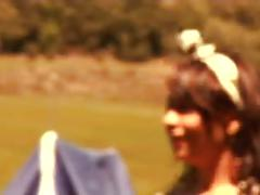 Dunia montenegro outdoor threesome