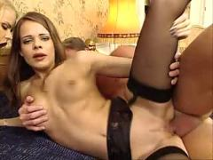 Blonde  and  redhead orgy in hotel