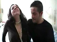 Hot mature spanish woman gets fucked by young stud