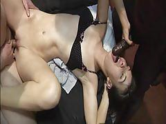 Lovely uk swingers summer and isabel get gangbanged