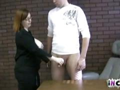 Wiccan mom luvs giving son a handjob