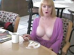 mature, mom, blonde, blue, hot, pussy, horny, mother, son