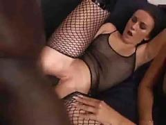 Stochings, dildo & a big black cock up their ass s88