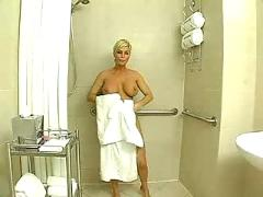 Blonde,  blowjob,  shaved,  busty,  pussyfucking,  shower,