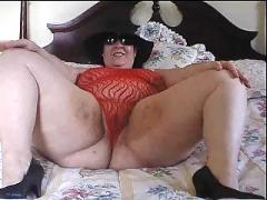Plump milf tease and jerk