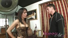 Tranny art brazilian she male fucking customer with...