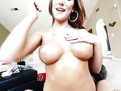 August ames - titty fuck pov